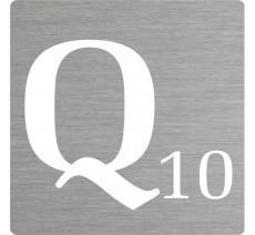 Lettre déco Scrabble en alu Q