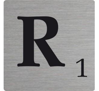 Lettre déco Scrabble en alu R