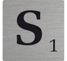 Lettre déco Scrabble en alu S