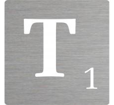 Lettre déco Scrabble en alu T