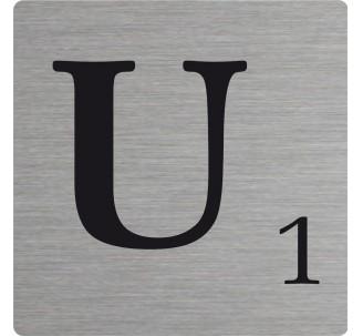 Lettre déco Scrabble en alu U