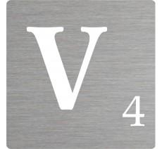 Lettre déco Scrabble en alu V