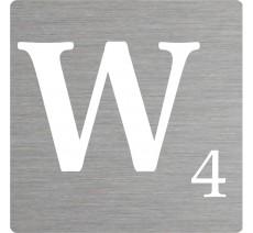 Lettre déco Scrabble en alu W