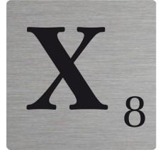 lettre x d corative type scrabble en aluminium. Black Bedroom Furniture Sets. Home Design Ideas