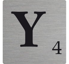 Lettre déco Scrabble en alu Y