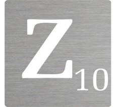Lettre déco Scrabble en alu Z