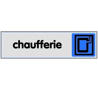 Plaque de porte plexi couleur Chaufferie