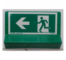 Support de signalisation symbole & braille Sortie de secours vers la gauche