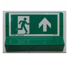 Support de signalisation symbole & braille   Sortie de secours en haut côté droit
