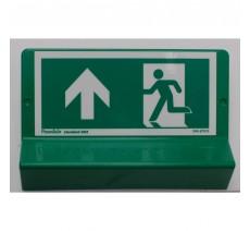 Support de signalisation symbole & braille Sortie de secours en haut côté gauche