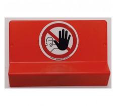 Support de signalisation symbole & braille Défense d'entrer