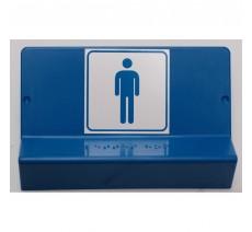 Support de signalisation symbole & braille   Toilettes Homme