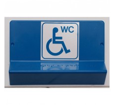 Support de signalisation symbole & braille Toilettes Handicapé