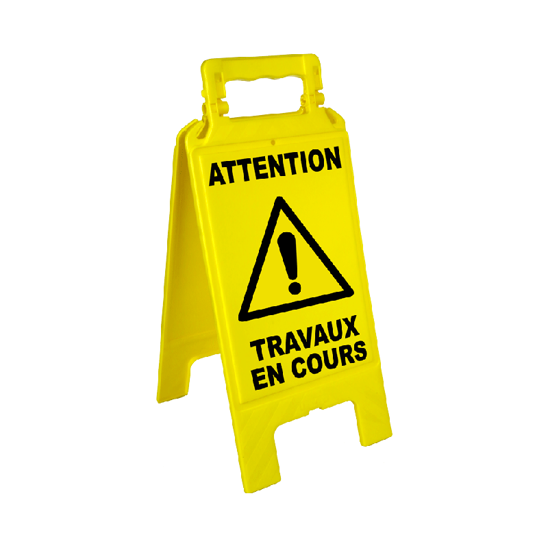 Chevalet de signalisation dangers - Attention peinture fraiche ...