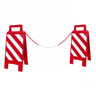 Kit de 2 chevalets hachurés + 5 m de chaîne