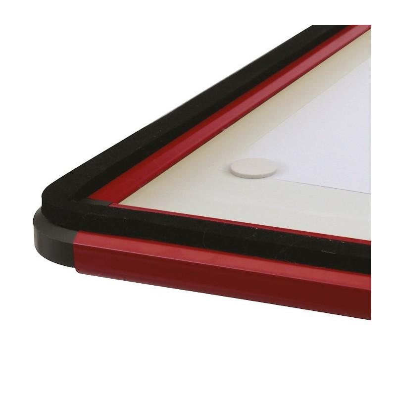 vitrine en alu angles arrondis verre securit argent 9 a4. Black Bedroom Furniture Sets. Home Design Ideas