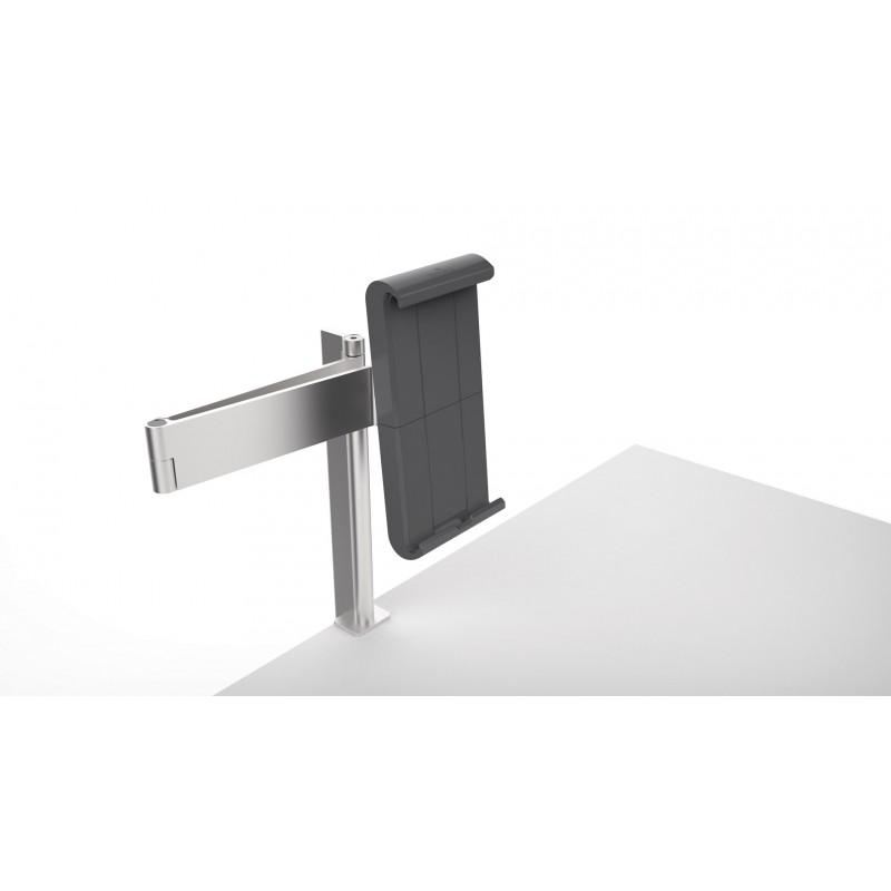 support tablette avec bras articul et fixation par pince. Black Bedroom Furniture Sets. Home Design Ideas