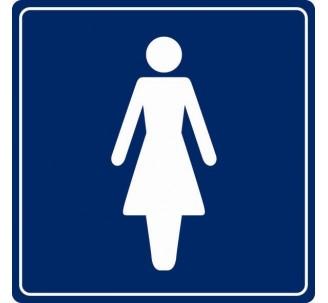 Pictogramme plexi couleur toilettes femme