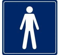 Pictogramme plexi couleur toilettes homme