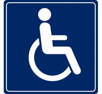 Pictogramme plexi couleur toilettes handicapé