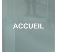 Accueil en vinyle