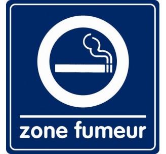Pictogramme plexi couleur  zone fumeur