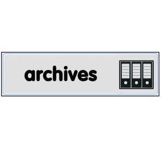 Plaque de porte plexi argent archives