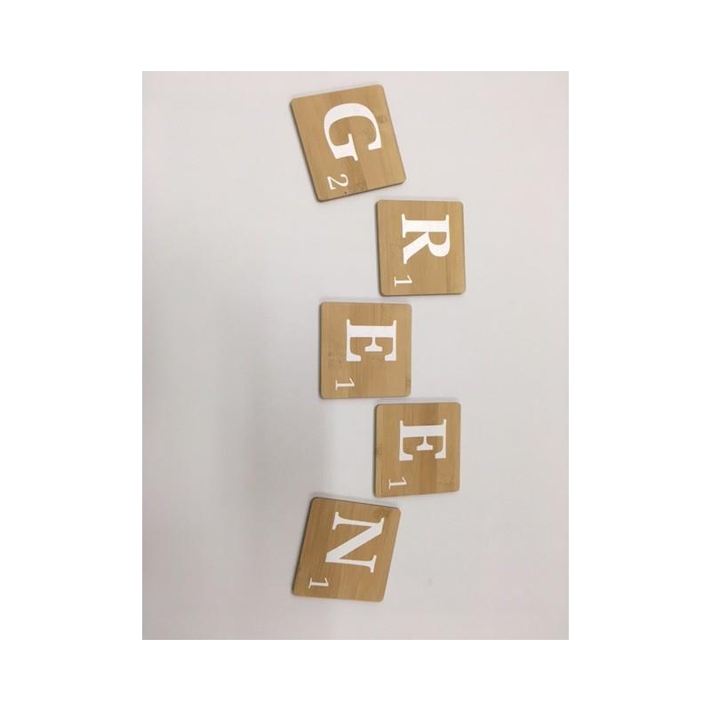 lettre en bois naturel l d co scrabble. Black Bedroom Furniture Sets. Home Design Ideas