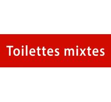 """Plaque de porte alu ou pvc gravé """"toilettes mixtes"""", 5 couleurs disponibles"""