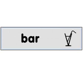 Plaque de porte plexi argent bar