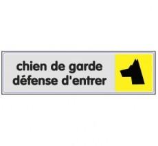 Plaque de porte plexi couleur Chien de garde, défense d'entrer