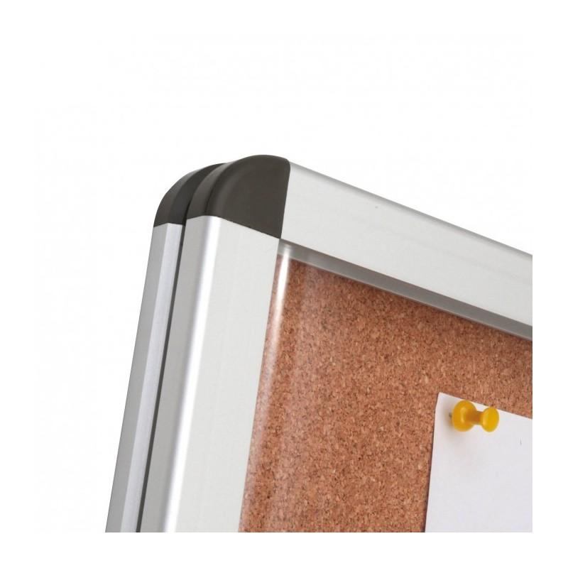 cadre d 39 affichage en li ge avec angles arrondis en abs argent. Black Bedroom Furniture Sets. Home Design Ideas