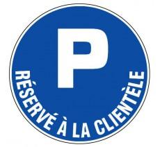 Panneau PVC rigide  Parking réservé à la clientèle