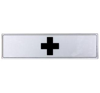 Plaque de porte plexi argent soins infirmerie