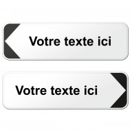 Panneau directionnel type D29 - 1 ligne de texte