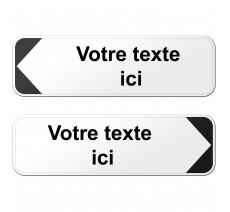 Panneau directionnel type D29 - 2 lignes de texte