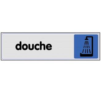 Plaque de porte plexi couleur Douche