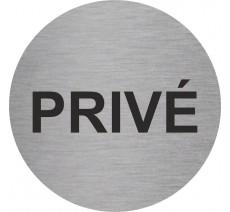 Plaque porte alu ou pvc rond privé, 5 coloris au choix