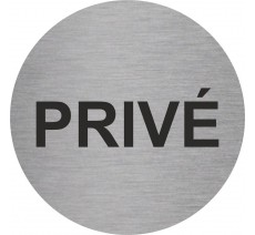 Plaque porte alu rond privé