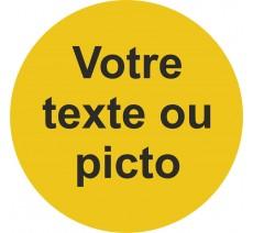 Plaque porte alu rond texte personnalisé, 5 coloris au choix