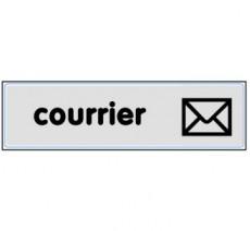 Plaque de porte plexi argent courrier