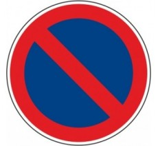 """Kit ou Panneau routier """"Stationnement interdit """" B6a1"""