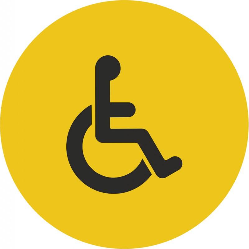 plaque porte alu bross picto rond toilettes handicap. Black Bedroom Furniture Sets. Home Design Ideas