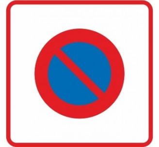 """Kit ou Panneau routier """"Entrée d'une zone à stationnement interdit"""" B6b1"""