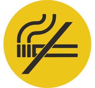 Plaque porte alu picto rond défense de fumer