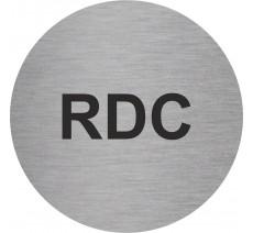 Plaque porte alu ou pvc picto rond RDC