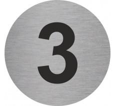Plaque porte alu ou pvc picto rond 3
