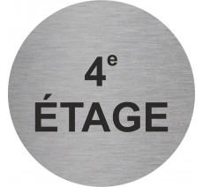 Plaque porte alu ou pvc picto rond 4e Etage