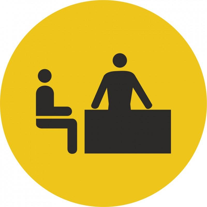 plaque porte alu bross picto rond bureau. Black Bedroom Furniture Sets. Home Design Ideas
