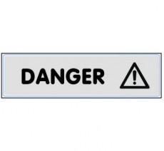 Plaque de porte plexi argent danger